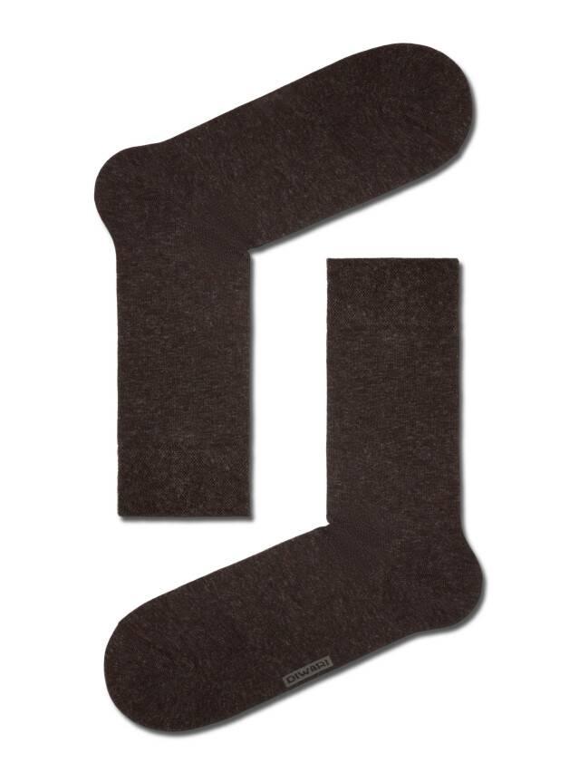 Skarpety męskie (kaszmir) DiWaRi COMFORT, r.40-41, 000 ciemnobrązowy - 1